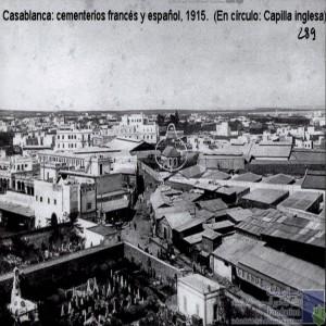 Cementerios francés y espânol, 1915 ( En Circulo: Capilla inglesa) / Cimetières  des français et des espagnoles/ محراب إنجليزي