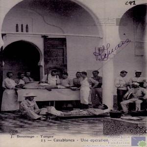 Une opération / Chirurgie à l\'époque colonial/ Hôpital/ Santé.