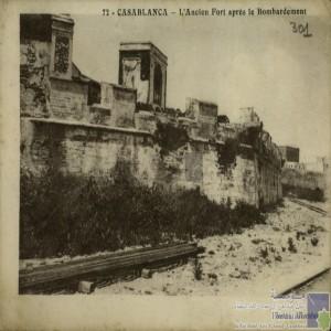 L\'ancien Fort après le Bombardement.