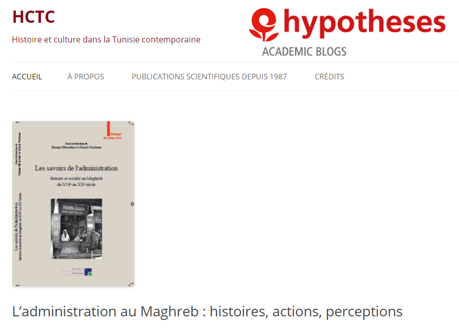 Hypotheses | L'administration au Maghreb : histoires, actions, perceptions