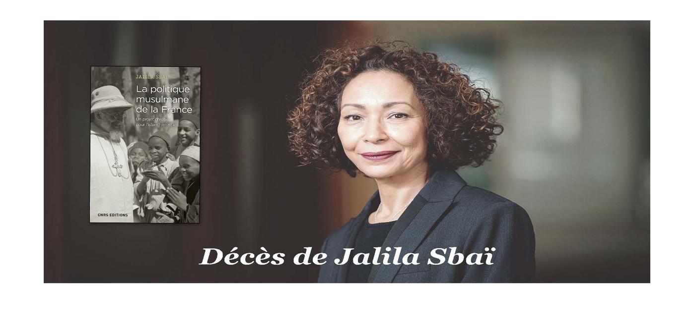 Décès de Jalila Sbaï
