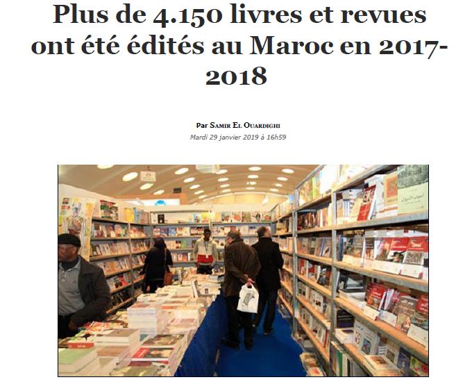 Plus de 4.150 livres et revues ont été édités au Maroc en 2017- 2018