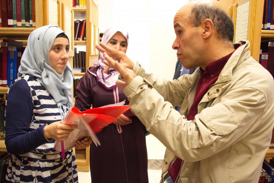 Visite d\'un groupe d'étudiants de la Faculté Polydisciplinaire  de Larache