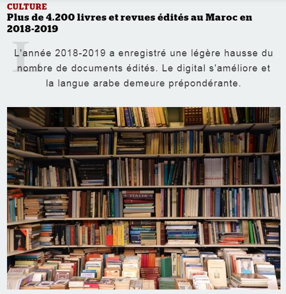 MEDIA24 | Plus de 4.200 livres et revues édités au Maroc en 2018-2019