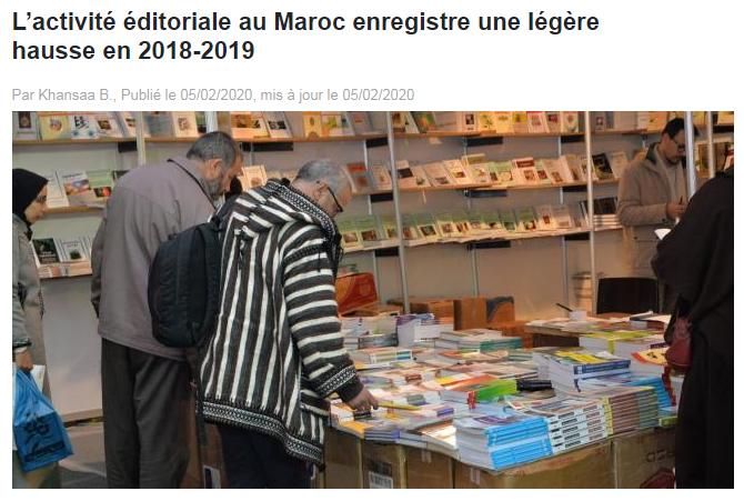 LE BRIEF | L'activité éditoriale au Maroc enregistre une légère hausse en 2018-2019