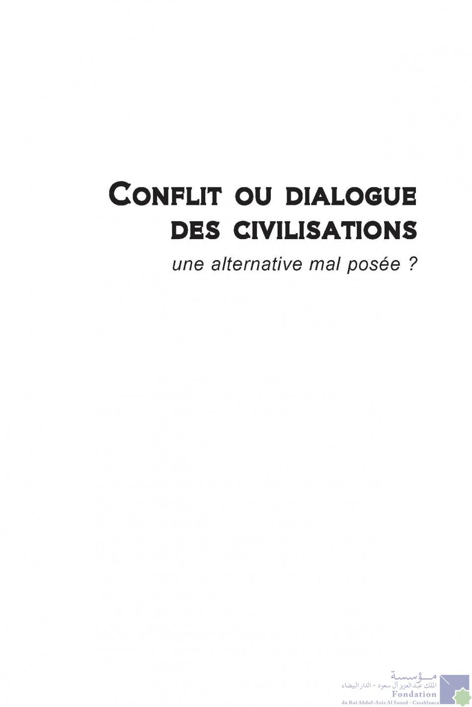 Conflit ou dialogue des civilisations